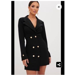 Pretty Little Thing Double Breasted Blazer Dress